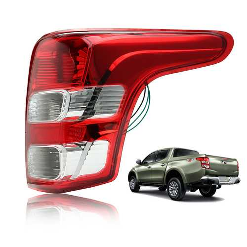 Car Rear Right Tail Light Brake Lamp Cover Assembly for Mitsubishi L200 Triton Fiat Strada 2015-Up