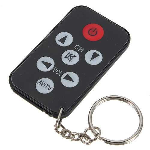 5pcs Universal Infrared IR Mini TV Remote Control Keychain Key Ring