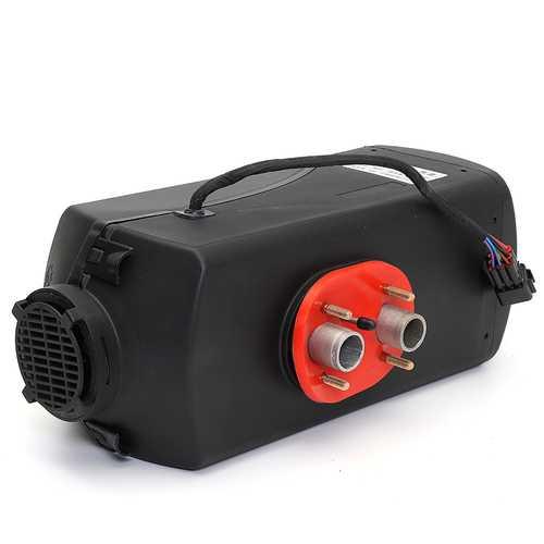 24V Car 5 Kw Diesel Air Heating Truck Parking Heater Warmer Black Grey 2 Hole 30 Square Warm Range