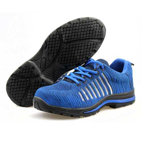Outdoor Men Steel Toe Lightweight Lace-up Bulletproof Midsole Athletic Hiking Sport Shoes Sneakers
