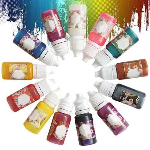 13 Colors Epoxy UV Resin Coloring Dye Colorant Pigment Easy Drop Tip No Smell