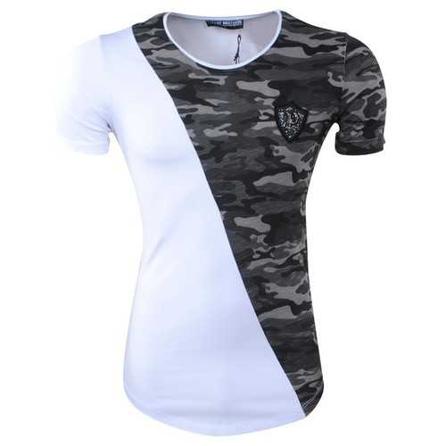 Men's Casual Camouflage Short Sleeve Tight T-Shirts