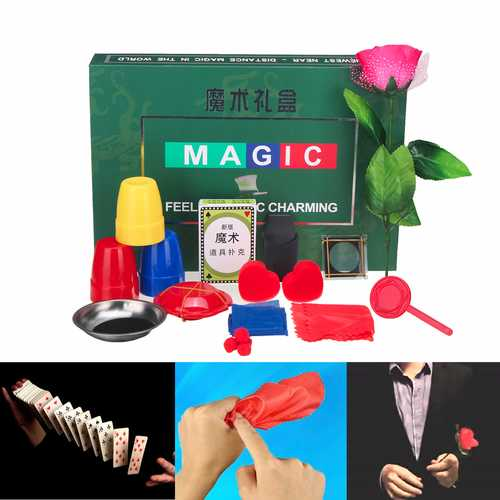8 Kinds Trick Sets Magic Play With DVD Teaching Professional Magic Tricks Stage Close Up Magic Toys