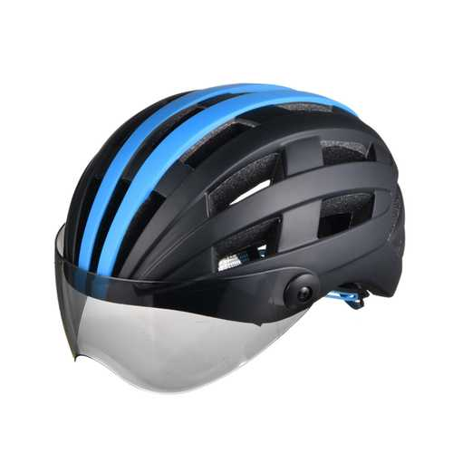 BIKIGHT 56-63cm Goggle Bike Helmet Road Cycling Bicycle Sports Safety Helmet Riding Racing Helmet