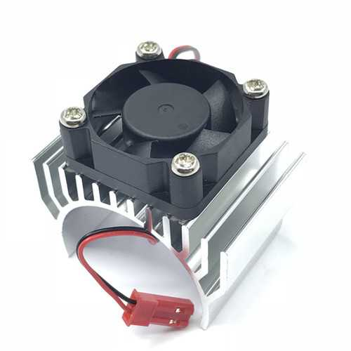 Aluminum Alloy 540/550 Motor Heatsink Radiator with Fan JST Connector for 1/8 1/10 RC Car Parts