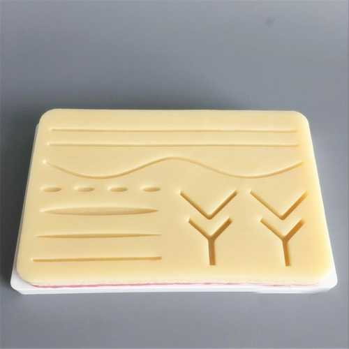 Medical Suture Training Human Traumatic Skin Model Suturing Practice Training Pad Doctor Nurse Teach