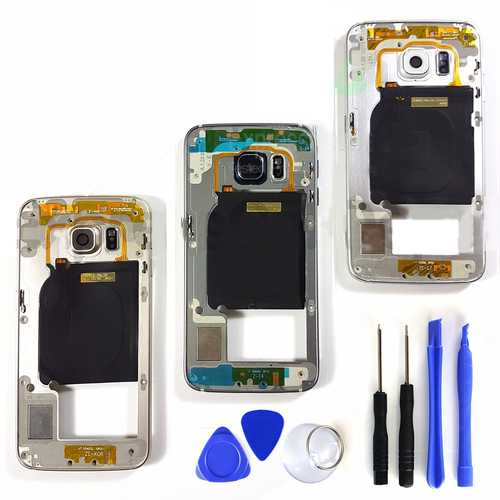 Chassis Metal Mid Frame Cover Replacement Assembly for Samsung Galaxy S6 Edge
