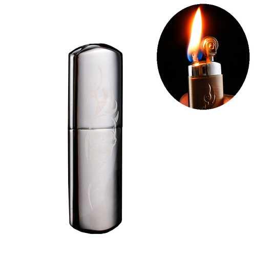 IPRee® Copper Mini Kerosene Lighter Vintage Classical Pocket Outdoor Lighter Ignitor Starter Electroplating Surface