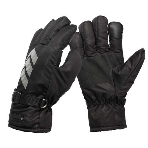 7.4V Rechargeable Battery Electric Heated Reflective Gloves For Motorcycle Scooter