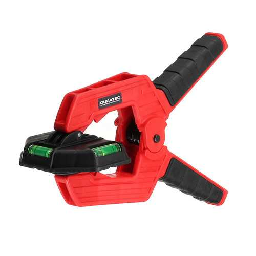 Drillpro 75mm 12KG Wood Spring Clamp Woodworking Spring Clip with Horizontal Bubble