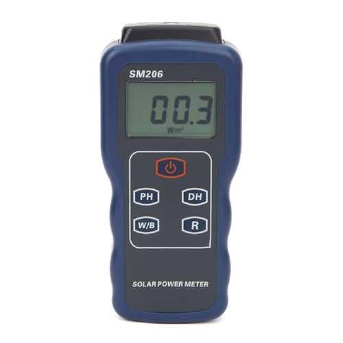 SM206 High Precision Solar Power Meter Light Meter Data Hold and Peak Hold For Solar Radiation Meter Glass Light Intensity