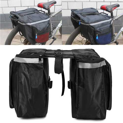 BIKIGHT 20L Bicycle Rear Rack Seat Saddle Bag Cycling Bike Pannier Tail Storage Pouch Bike Bag