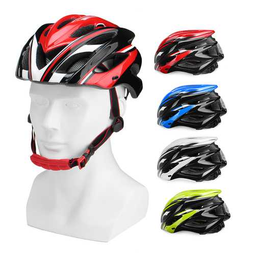 HTELVIS HT10 Ultralight Bicycle Helmet Adjustable Bike Cycling Helmets With Tail Light Warning Light