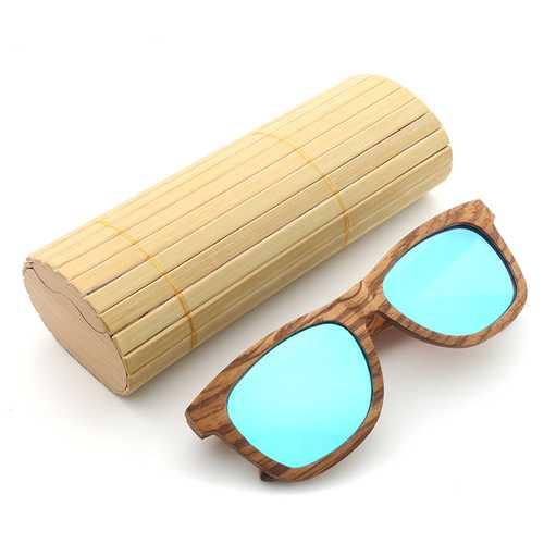 Zebra Wood UV400 Outdoor Polarized Sunglasses Handmade Retro Cycling Sunglasses For Men Women
