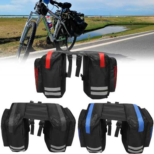 BIKIGHT 600D 20L Cycling Bike Luggage Bag Bicycle Rear Rack Seat Saddle Bag Cycling Pannier Waterproof