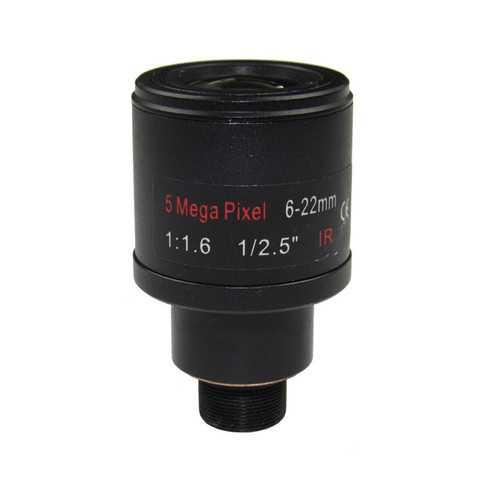 """1/2.5"""" 5.0Megapixel F1.6 M12 Mount Varifocal 6-22mm M12 CCTV IP Camera Lens"""