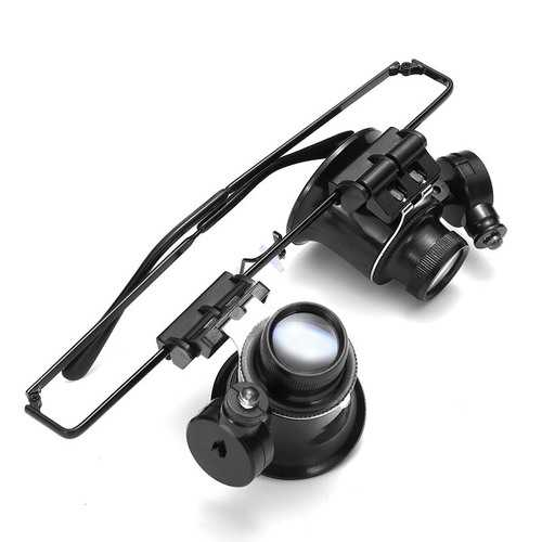 20X Magnifier Magnifying Eye Glass Loupe Lens Jeweler Watch Repair Tool LED Light