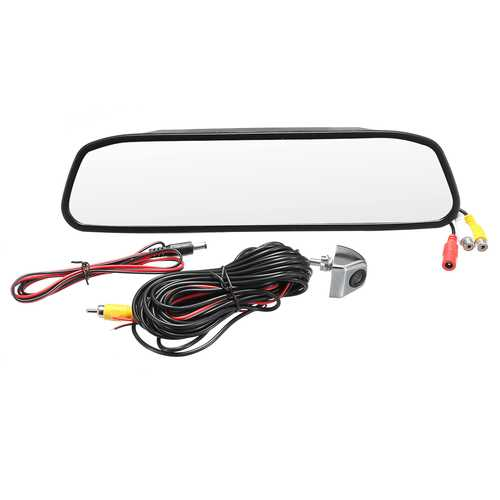 4.3 Inch Car TFT Color LCD Display Monitor Mirror HD CCD Reverse Rear View Backup DVR Camera Kit