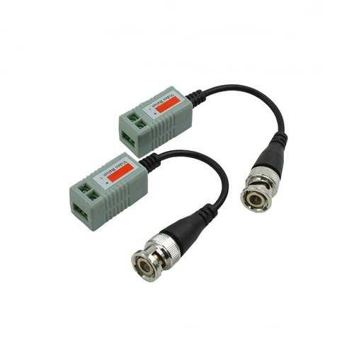 1 Pair Passive Video Transmitter With Twisted-pair Cable and BNC Plug Compatible AHD CVI TVI