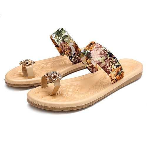 Bohemian Women Summer Flat Flip Flops Sandals