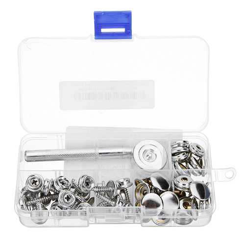20Pcs Screw Buckle Snap Buttons Press Studs Snap Fastener Sewing Clothing Craft DIY Fixing Tool