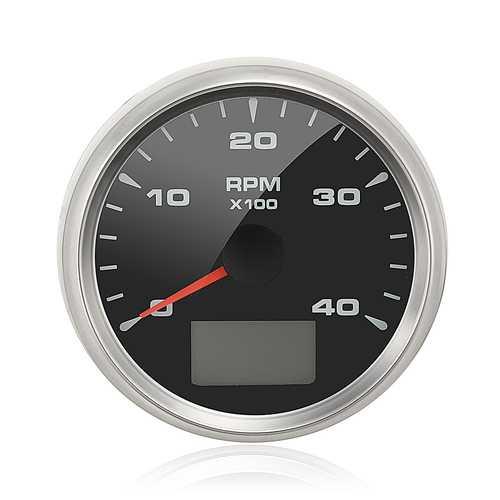 12/24V 85mm 4000RPM Waterproof Variable Backlight Digital GPS Gauge Speedometer Odometer Marine Boat
