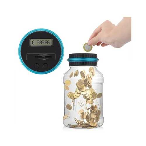 Electronic Digital Counting Coin Money Saving Box LCD Display Piggy Bank EURO Gift For Kids