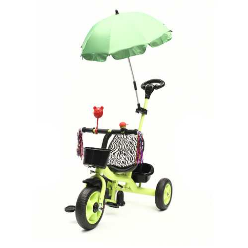 BIKIGHT 3 Wheels Kids Ride On Tricycle Bike Children Ride Toddler Balance With Umbrella Baby Mini Bike Safety Handle Push