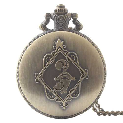 Alice's Adventures Dacing Pattern Vintage Retro Pocket Watch