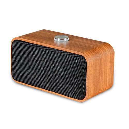 Wooden Wireless bluetooth Speaker Portable HIFI Stereo Bass 3D Audio TF Card With HD Mic