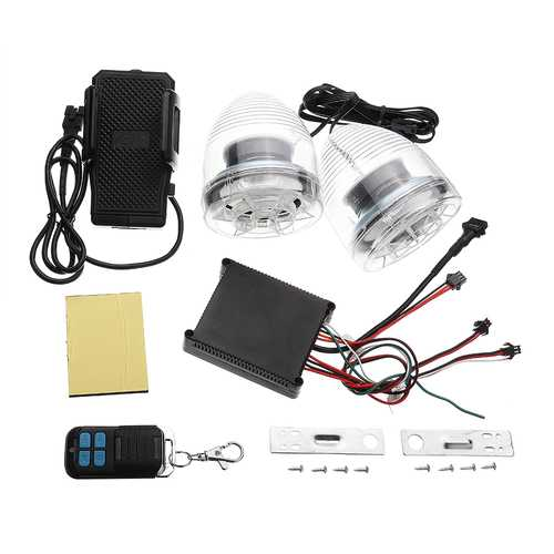 Motorcycle Alarm Sound System Amplifier MP3 Speakers Anti-Theft System+FM+usb/sd