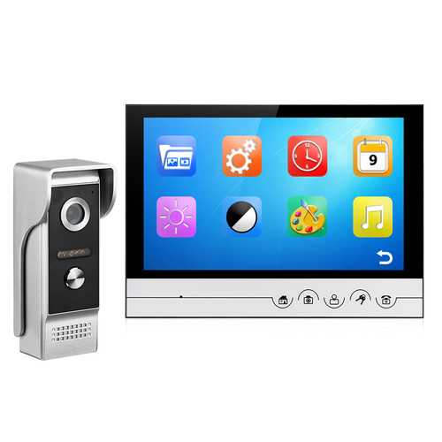 9 Inch TFT Monitor 700TVL HD Night Vision Video Record Phone Taking Handfree Video Doorbell Intercom