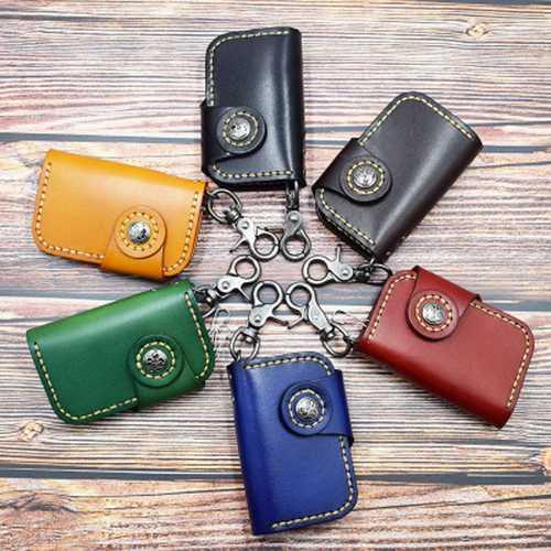 Men And Women  Genuine Leather Retro Car Key Holder Key Bag