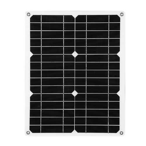 12V 15W Solar Panel Semi-flexible 5V USB for Camping Outdoor Emergency Charging