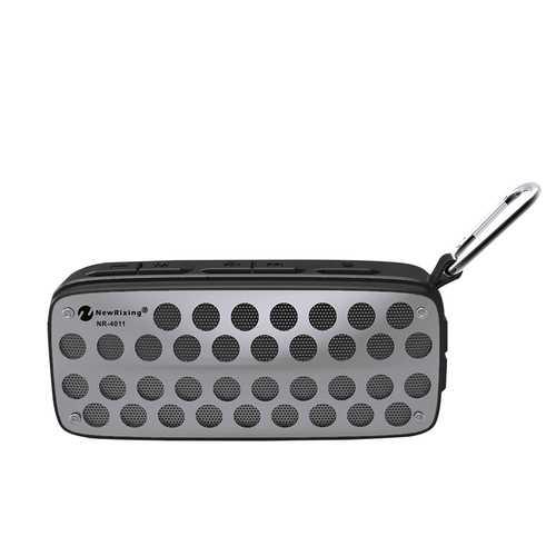 Portable Outdoor Wireless Bluetooth Speaker IPX4 Waterproof FM Radio TF Card Speaker with Mic