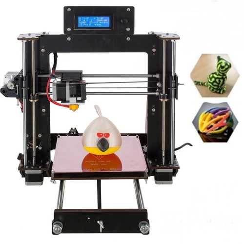 DIY Prusa I3 3D Printer 200*200*180mm Printing Size Support Off-line Printing 1.75mm 0.4mm Nozzle