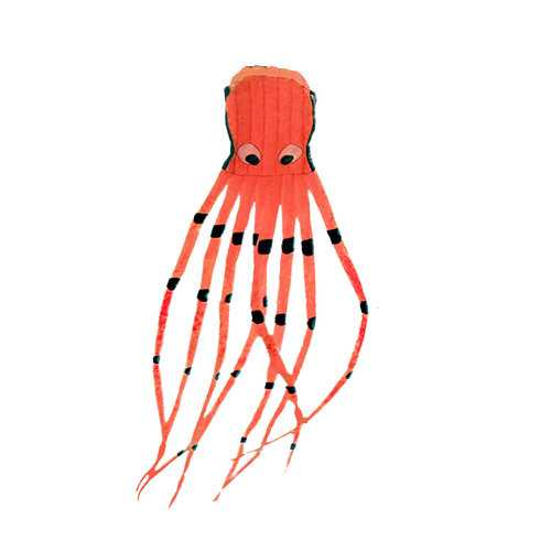 8M 3D Octopus Software Kite Cartoon Outdoor Foldable Children Fun Toys