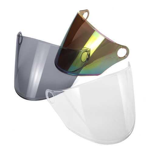 Universal Motorcycle Helmet Visor Shield Lens Windproof Retro Anti-fog Full Face Case