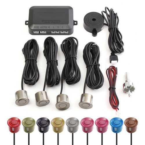 DC 12V 10 Colors PVC Buzzer Display Pure Beep Sound Reversing Car Radar Detector