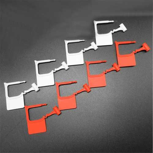 100Pcs Disposable Plastic Padlock Seal Airline Use Safety Control Seals Luggage Lock Buckle