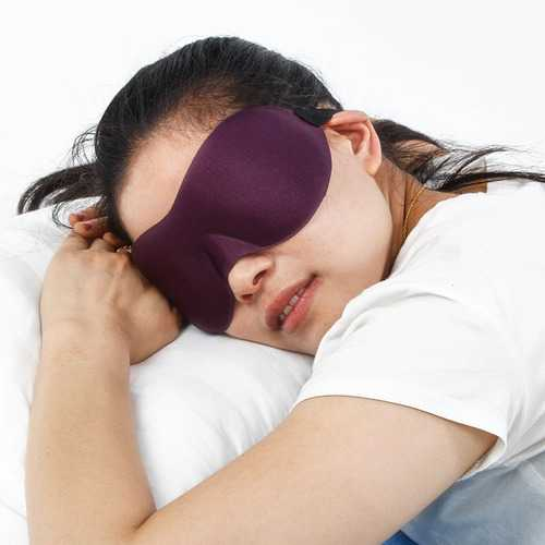 Women Men Soft Polyester Eye Mask