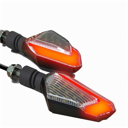 22LED Spirit Beast Pair 12V Motorcycle Daytime Light Warning Signal Turn Lights 10MM IPX6