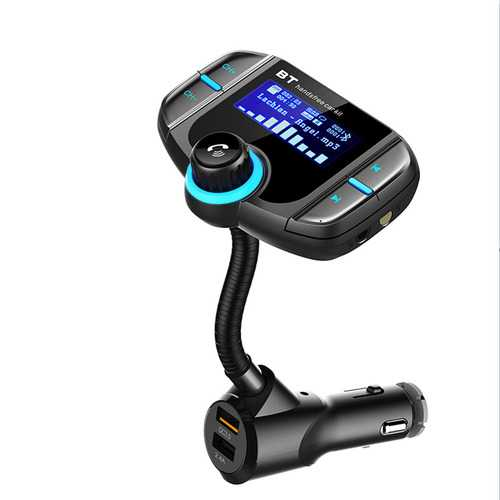 BT70 Car FM Transmitter Bluetooth Player Support TF Card With QC3.0 Fast Charger