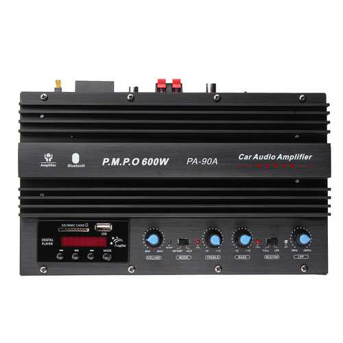 600W Home bluetooth 4.0 Power Version Car Amplifier Subwoofer With Remote Control