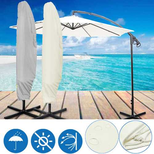 104x32inch Outdoor Garden Parasol Cover Waterproof Anti-UV Rain Resistant Umbrella Storage Bag