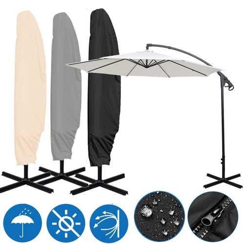 80x45inch Outdoor Garden Parasol Cover Waterproof Anti-UV Rain Resistant Umbrella Storage Bag