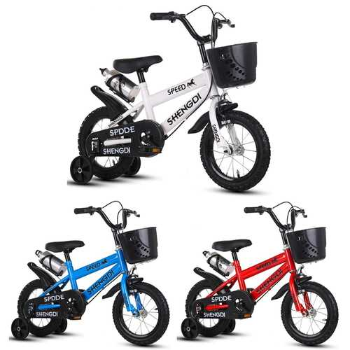 "BIKIGHT 12"" Kids Bike Tricycle 3 Wheels Balance Protection Safety Baby Safety Cycling Training Bike"