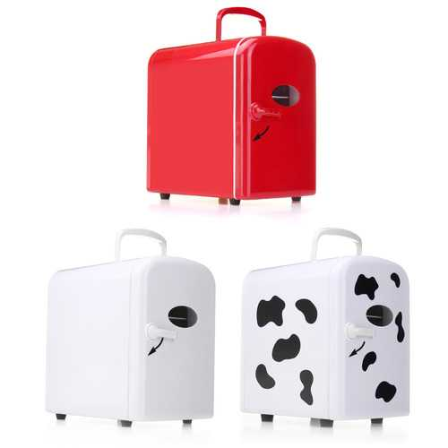45W 4L White Red Milk Cow Mini Portable Cooler Warmer Car Refrigerator