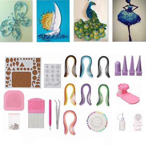 Paper Quilling DIY Craft Tool Full Kit Handmake Work Board Mould Grid Guide Set Developmental Toys
