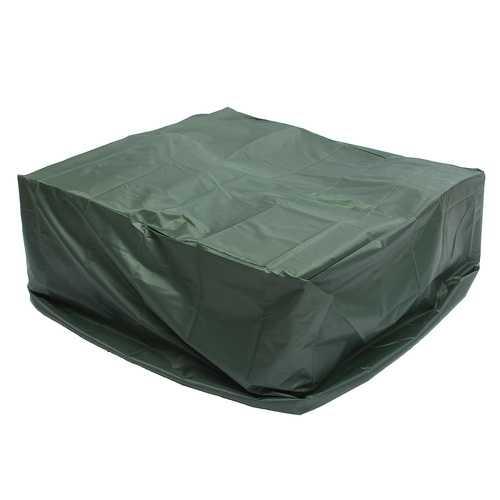 Anti-UV Rain Protective Rattan Furniture  Outside Chair Covers for Wicker Rattan Garden Square Green